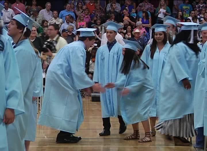 Great falls high school hosts graduation ceremony krtv for Bison motors great falls mt