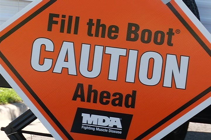 great falls firefighters help fill the boots for mda