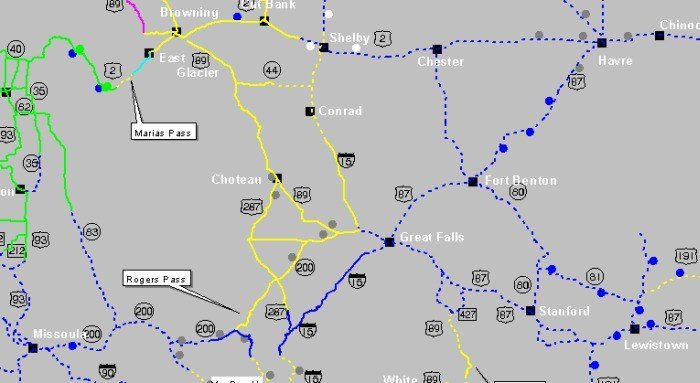 Montana State Road Conditions Map Detail Montana State Map - Montana state map