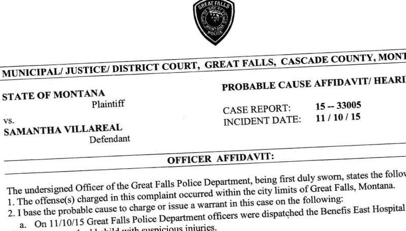 samantha villareal of great falls has been charged with a felony count of assault on a