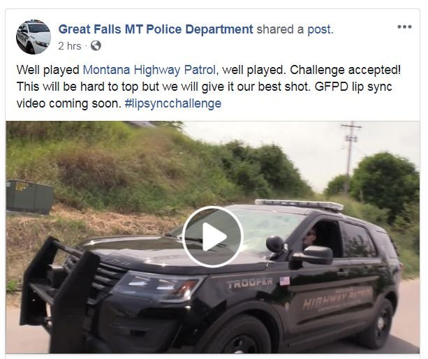 "Montana Highway Patrol has fun with ""Lip Sync Challenge"""